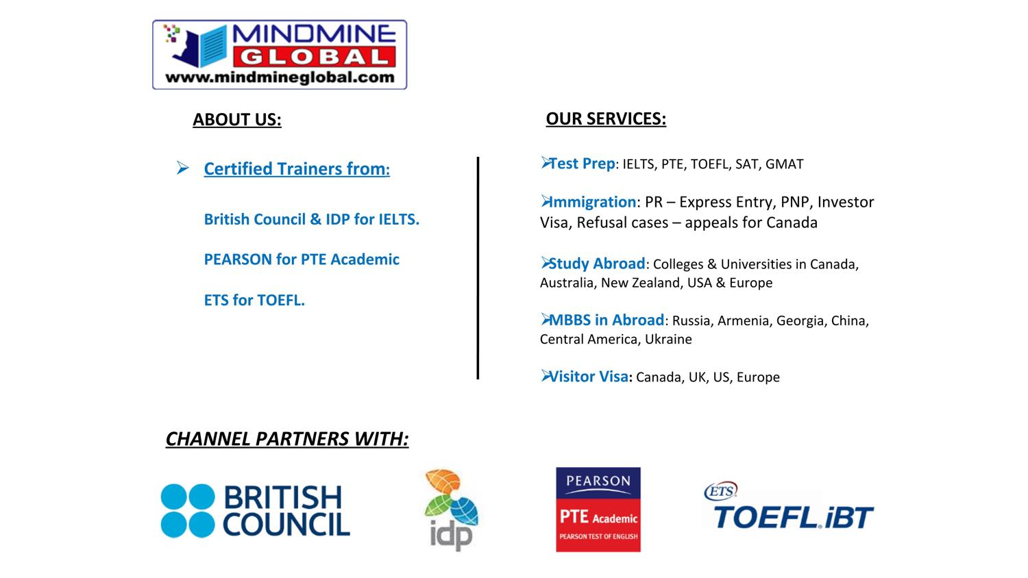 Study in Canada Seminar with Mount Saint Vincent University